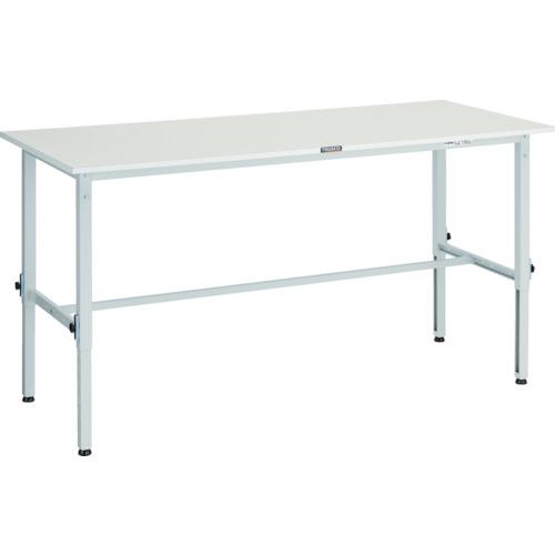 【直送】【代引不可】TRUSCO(トラスコ) 軽量高さ調整作業台 ポリ化粧天板 1800X900 ホワイト AEM-1809 W