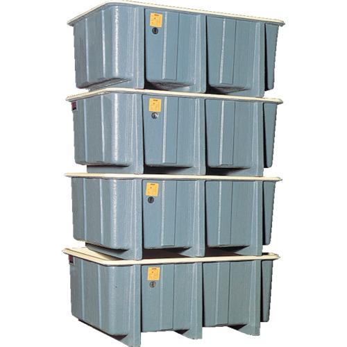 【直送】【代引不可】立花容器 FRP角タンク 4段積用 1070L 1000-2-Y