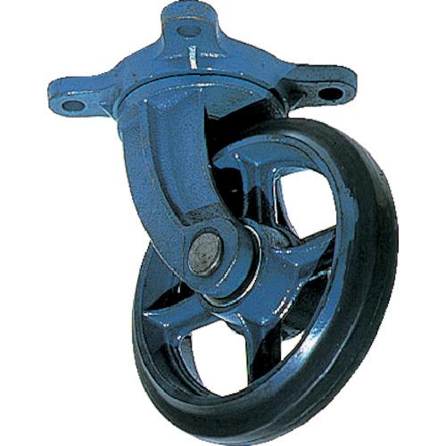 国内発送 京町産業車輌 鋳物キャスター(ゴム車輪) 250mm AJ-250, オオハラマチ 1ca07db5