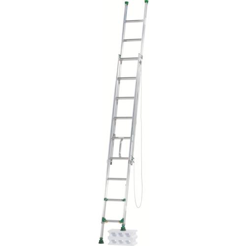 【直送】【代引不可】ALINCO(アルインコ) 脚伸縮式二連はしご 4.6m 最大使用質量100kg ANE47F