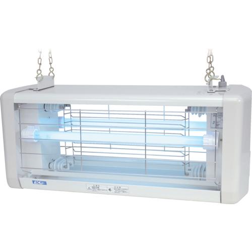 【直送】【代引不可】朝日産業 電撃殺虫器 屋外用 20W 2灯式 防水仕様 AS-020