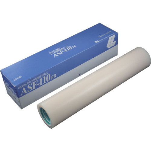 チューコーフロー(中興化成工業) ふっ素樹脂粘着テープ 乳白色フィルム 0.13mmX300mmX10m ASF110FR-13X300