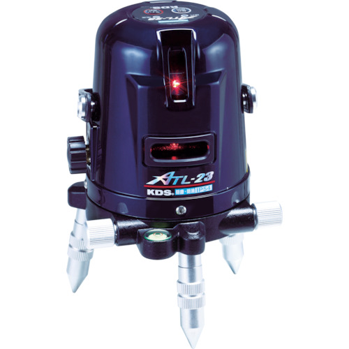 ムラテックKDS レーザー墨出器 オートラインレーザー 受光器・三脚付 縦1方向・横1方向・地墨 ATL-23RSA