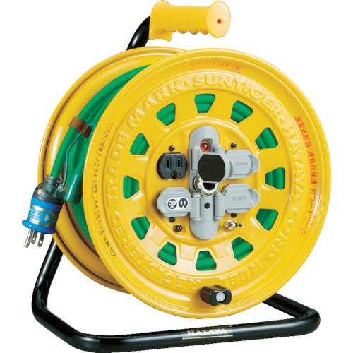 TRUSCO(トラスコ) プロソフトケーブルコードリール 30m 漏電防止付き BG-301KXT
