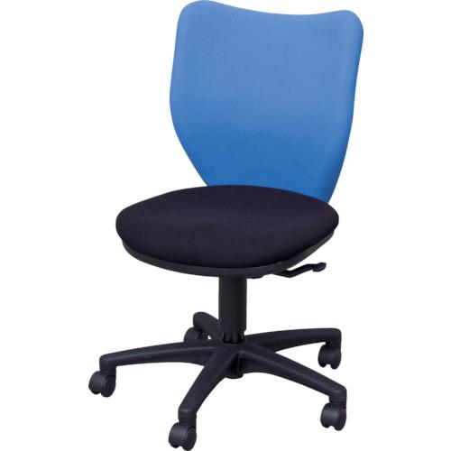 IRIS(アイリスチトセ) オフィスチェア ミドルバックタイプ ブルー・ブラック BIT-BX45-L0-F-BLBK