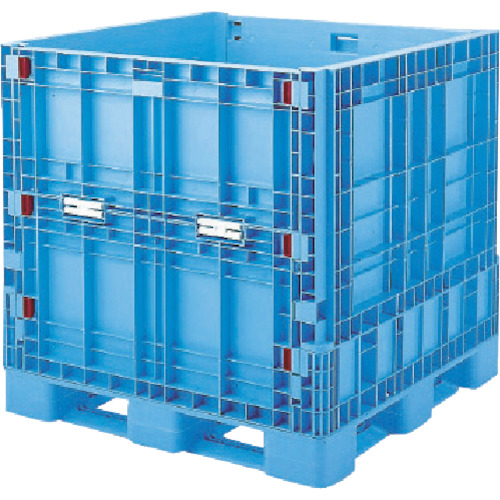 【直送】【代引不可】リス(岐阜プラスチック工業) パレットボックス BJB-S・1111X110 折りたたみ ブルー BJBS1111X110