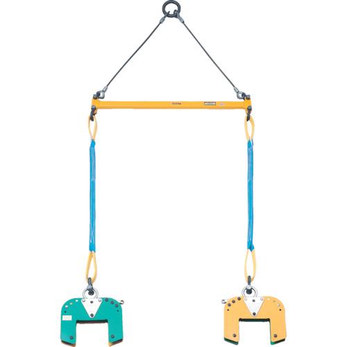 スーパーツール 木質梁専用吊クランプ天秤セット 400kg BLC200S