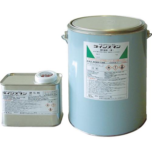 ABC(エービーシー商会) 硬質床専用ライン塗料 ラインズマン 4.4kgセット 黄 BLINY4