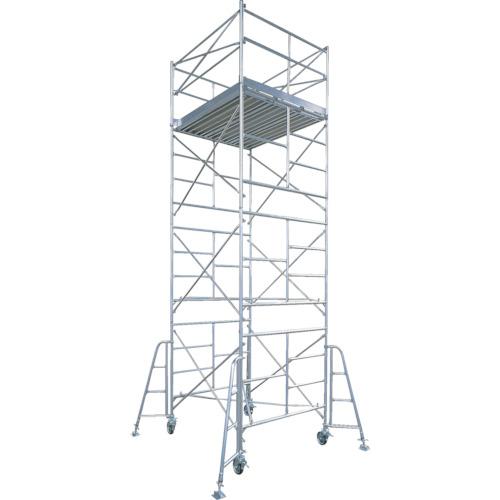 【直送】【代引不可】ハセガワ(長谷川工業) アルミ製ローリングタワー BMA型 3段 BMA-3