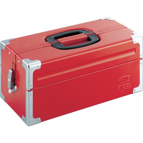 TONE(トネ) ツールケース(メタル) V形2段式 433X220X195mm レッド BX322
