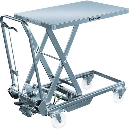 【直送】【代引不可】ビシャモン(スギヤス) クリーンボーイ2 ステンレス 100kg 450X700mm BXS10-T