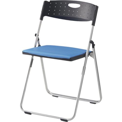 IRIS(アイリスチトセ) アルミパイプ椅子 水平スタッキングタイプ CAL-X02M-V-BL