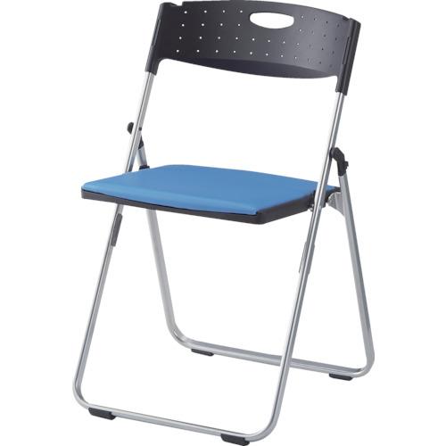 IRIS(アイリスチトセ) アルミパイプ椅子 水平スタッキングタイプ CAL-X02S-V-BL