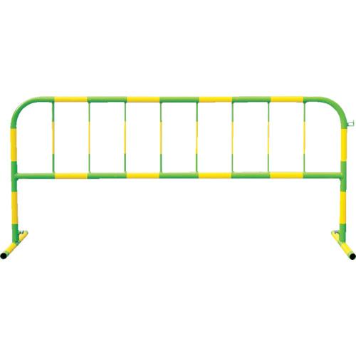 【直送】【代引不可】トーグ安全工業 カラーパイプバリケード 黄反射緑 CB-2