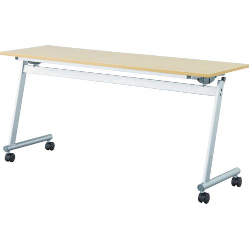 【直送】【代引不可】IRIS(アイリスチトセ) フライングテーブル天板跳上 下棚付1500X450ナチュラル CFTR-S1545-NA