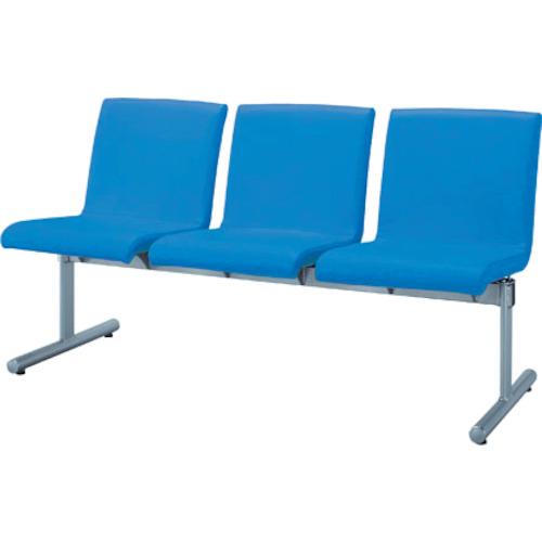 【直送】【代引不可】IRIS(アイリスチトセ) ロビーチェア エルレスト 3人用 ブルー CLRB-ST3-BL