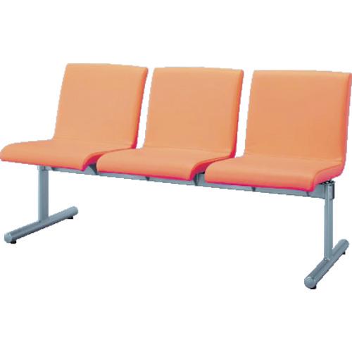 【直送】【代引不可】IRIS(アイリスチトセ) ロビーチェア エルレスト 3人用 オレンジ CLRB-ST3-OG