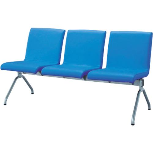 【直送】【代引不可】IRIS(アイリスチトセ) ロビーチェア エルレスト 3人用 ブルー CLRB-SV3-BL