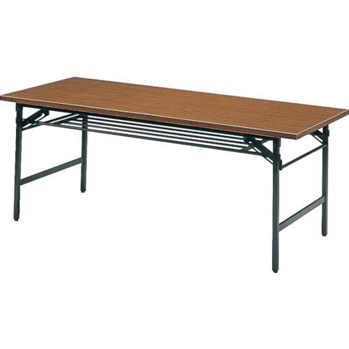 【直送】【代引不可】TRUSCO(トラスコ) 折りたたみ会議テーブル 1200X600XH700 チーク 1260