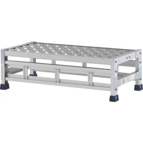 【直送】【代引不可】ALINCO(アルインコ) 作業台(天板縞板タイプ) 1段 800X400XH0.25m CSBC128S