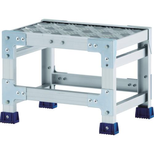 【直送】【代引不可】ALINCO(アルインコ) 作業台(天板縞板タイプ) 1段 600X400XH0.5m CSBC146S