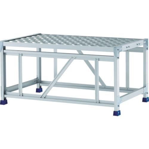 【直送】【代引不可】ALINCO(アルインコ) 作業台(天板縞板タイプ) 1段 800X600XH0.5m CSBC158WS