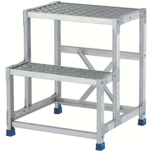 【直送】【代引不可】ALINCO(アルインコ) 作業台(天板縞板タイプ) 2段 600X400XH0.7m CSBC276S