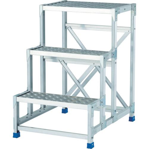 【直送】【代引不可】ALINCO(アルインコ) 作業台(天板縞板タイプ) 4段 800X400XH1.2m CSBC4128S