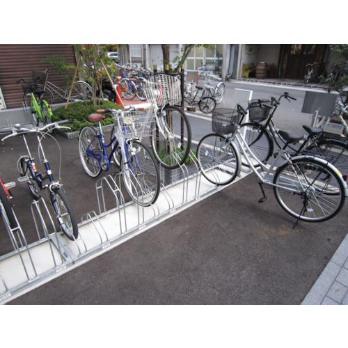 【直送】【代引不可】ダイケン 平置き自転車ラック前輪差込式サイクルスタンド 両面12台収容 CS-MW12