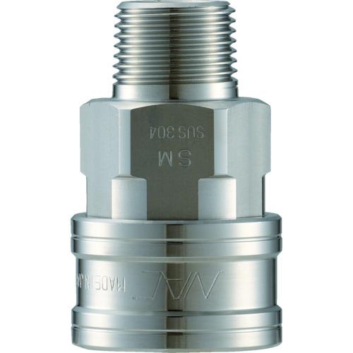 ナック(長堀工業) クイックカップリング TL型 ステンレス メネジ取付用 CTL08SM3