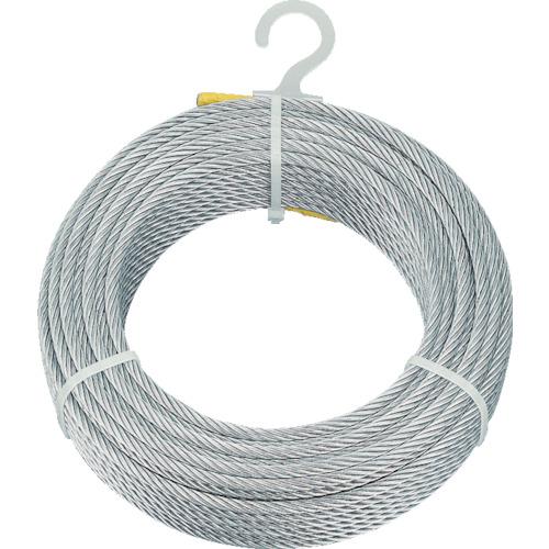 【直送】【代引不可】TRUSCO(トラスコ) メッキ付ワイヤロープ φ6mmX200m CWM-6S200