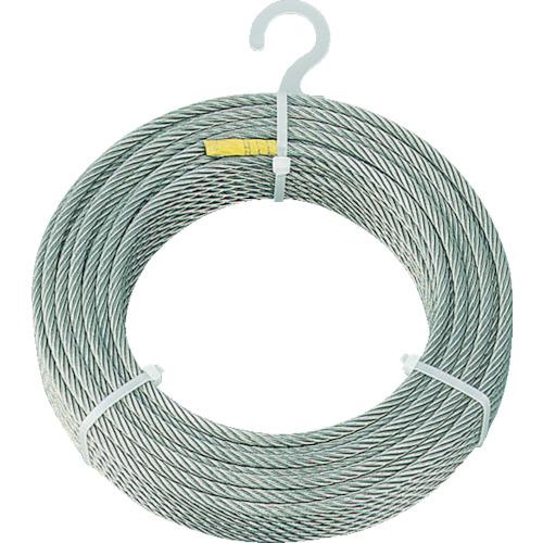 【直送】【代引不可】TRUSCO(トラスコ) ステンレスワイヤロープ φ6mmX200m CWS-6S200