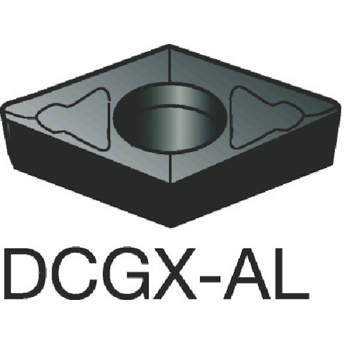 サンドビック コロターン107 旋削用ポジ・チップ H10 10個 DCGX070204-AL H10