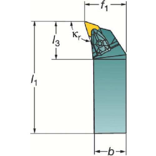 サンドビック コロターンRC ネガチップ用シャンクバイト DDHNL2525M1504