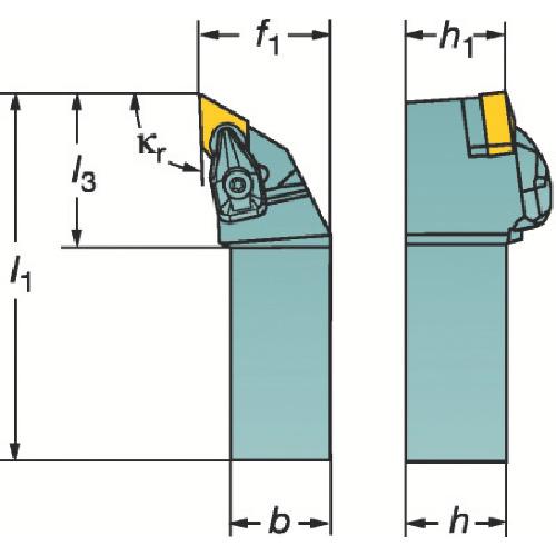 サンドビック コロターンRC セラミックチップ用シャンクバイト DDJNL 2525M 15-2