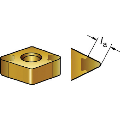 サンドビック T-Max 旋削用CBNチップ 7015 5個 DNGA110408S01030A 7015