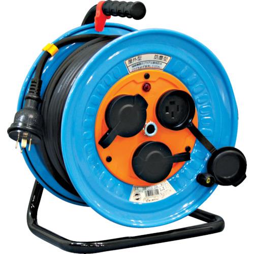 日動工業 電工ドラム 防雨防塵型三相200V 3.5sq電線アース付 30m DNW-E330F-20A