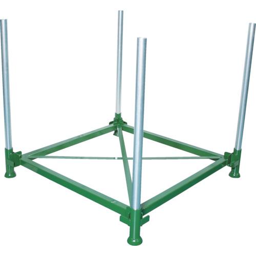 【直送】【代引不可】TRUSCO(トラスコ) 段積みパレット 1000kg 1100×1100 単管4本付 DPL-10-1111