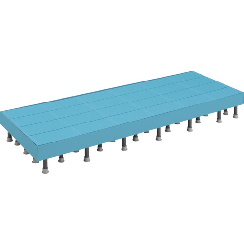 600X1200XH200-220mm 高さ調節式 樹脂ステップ TRUSCO(トラスコ) DS-6012HG 側板付