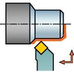 SANDVIK(サンドビック) コロターンRC ネガチップ用シャンクバイト DSSNL 2525M 12