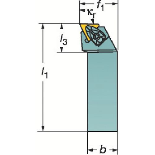 サンドビック コロターンRC ネガチップ用シャンクバイト DTFNL 2525M 22