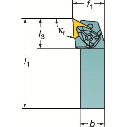 サンドビック コロターンRC ネガチップ用シャンクバイト DTJNR 2525M 16