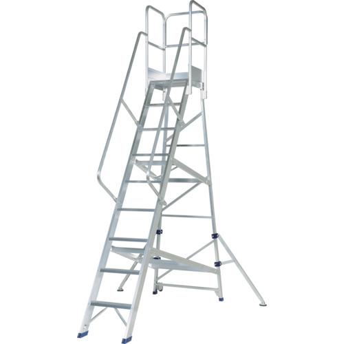 【直送】【代引不可】Pica(ピカ) アルミ合金製作業台 DWS型 2.7m 手すりH1100 DWS-270B11H