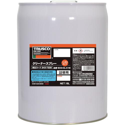 【直送】【代引不可】TRUSCO(トラスコ) αクリーナーノンガススプレー 詰替用 18L ECO-CL-C18