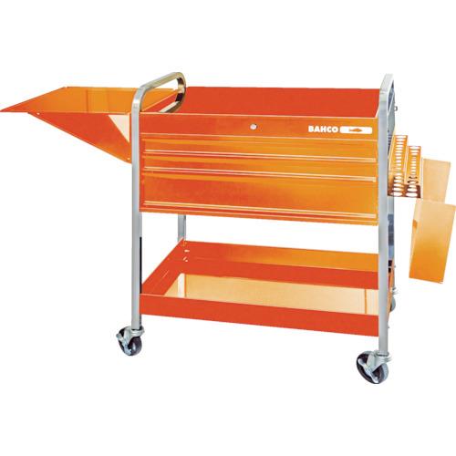 【直送】【代引不可】BAHCO(バーコ) ロールカート3段引き出し+2トレイ オレンジ 1470KC5