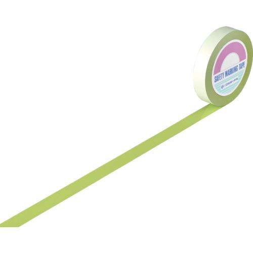 緑十字 ガードテープ(ラインテープ) 若草(黄緑) 25mm幅X100m 屋内用 148026