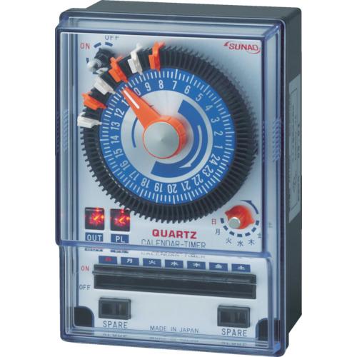 SUNAO(スナオ電気) カレンダータイマー クオーツアナログ式 パネル取付タイプ ET-100PC