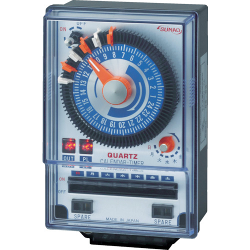 SUNAO(スナオ電気) カレンダータイマー クオーツアナログ式 表面取付タイプ ET-100SC