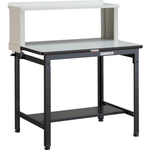 【直送】【代引不可】TRUSCO(トラスコ) 軽量作業台 ポリ化粧天板 200kg 上棚付 W900XD600 EWP-0960YURB