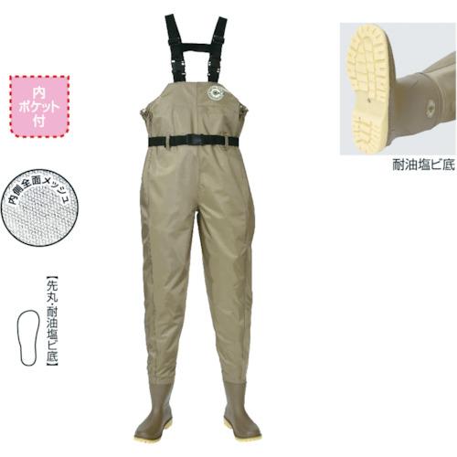 ハンシン(阪神素地) 水産長靴 ナイロンウェーダー ラジアル底 LL F-71-LL